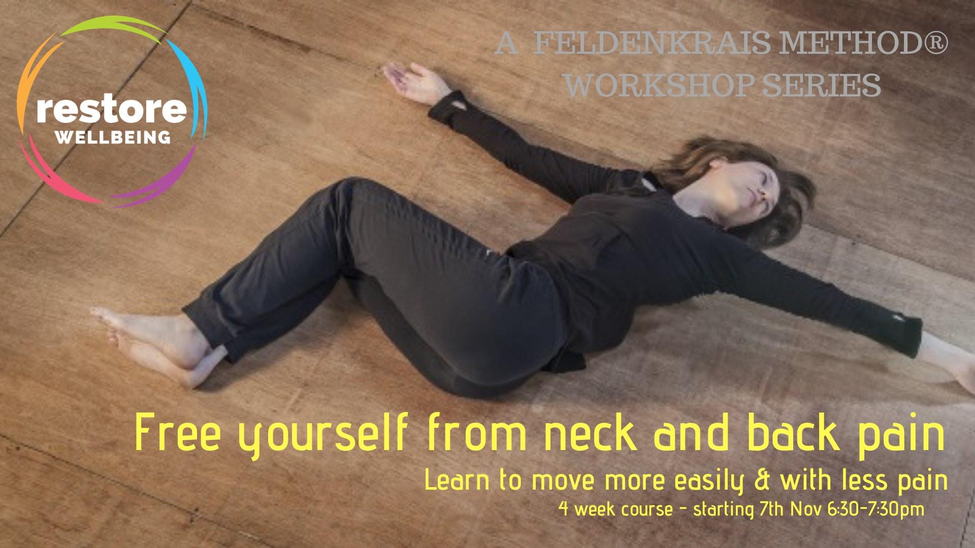 neck and back pain workshop flyer